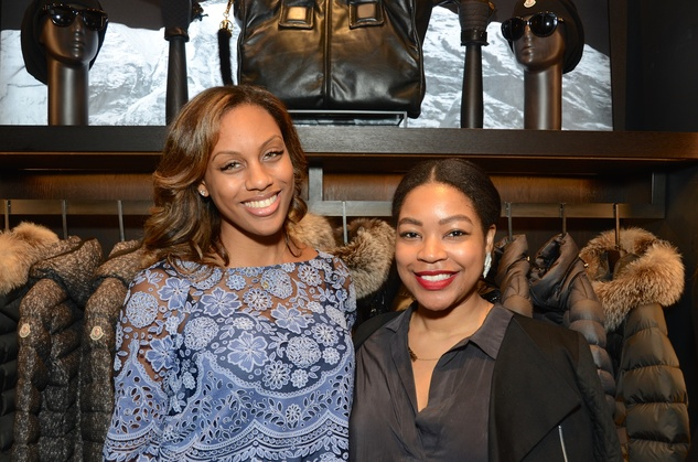 News, Moncler opening, Dec. 2015, Kara Smith, Gabrielle Sauls