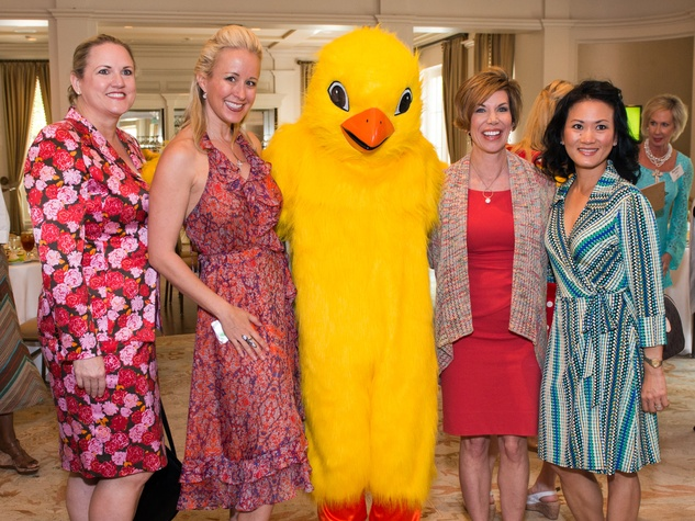 0030 NAME, from left, Jennifer Brown, Spring Chick, Roseann Rogers and NAME at the Spring Chick luncheon April 2015