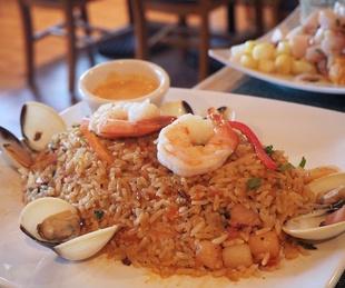 Lima Criolla arroz con mariscos