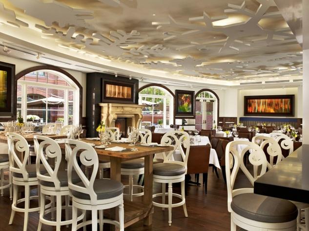 Chef's Club St. Regis Aspen dining room empty