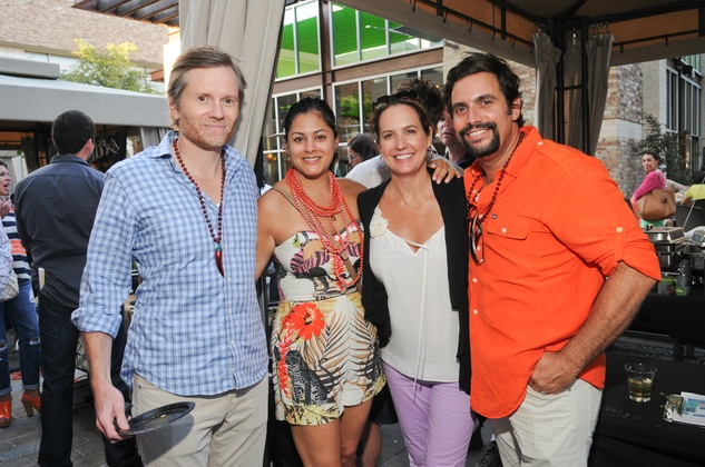 Matt White, from left, Katherine Ross and Tina and Sam Governale at the Curry Crawl May 2014