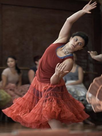 "Nancy, The World in a Dance, November 2012, Catalina Molinari in rehearsal for ""squared dancer"""
