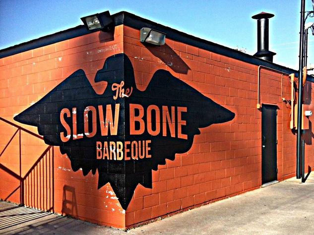 Exterior of Slow Bone restaurant in Dallas