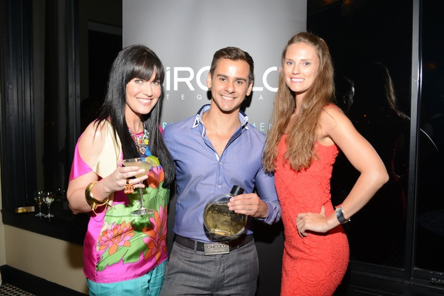 Tiffany Halik, from left, Kayvan Taheri and Brandee Karr at the ZooZa Event at Hotel ZaZa August 2014