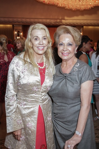 13 0608 Marie Bosarge, left, and Philamena Baird at the Women's Home tea April 2015