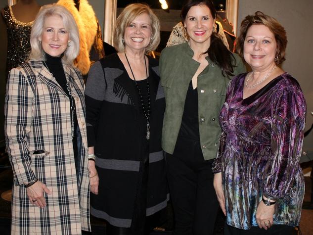 Susan Sanders, Kathy Adams, Kristy Adams, Myra Walker, downton tea kathy adams furniture