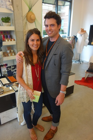 Brittany Meisner and Matt Johns at Garmentory party at Saint Cloud