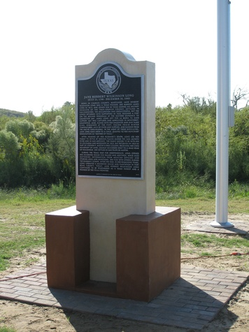 Katie Oxford Fifth Annual Jane Long Festival and Lecture Series September 2014 new historical marker for Jane Long on Bolivar Peninsula