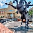 Sugar Land statue fountain town square