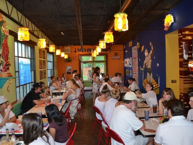 Tacos A Go-Go Houston Heights dining room crowd