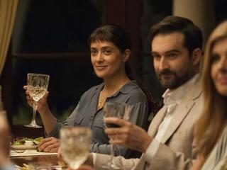 Salma Hayek, Jay Duplass, and Connie Britton in Beatriz at Dinner