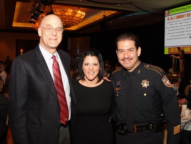 Neighborhood Centers Heart of Gold luncheon, February 2013, David Tobin, Claudia Vasquez, Sheriff Adrian Garcia