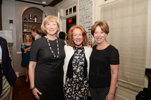 20 Lynn Kamin, from left, Sheila Aron and Judy Borrell at The Thread Alliance Blue Plate Special kick off April 2015