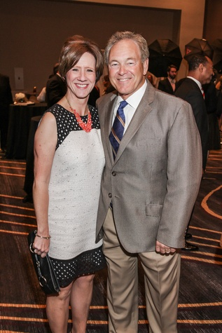 Pam and Rod Harnden at the College of Biblical Studies Rising Star Dinner May 2014