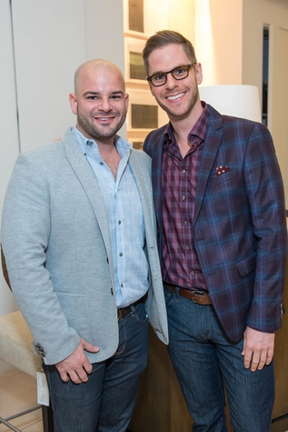Ben Johnston, left, and Christopher Alexander at the Decorative Center Houston Fall Market October 2014