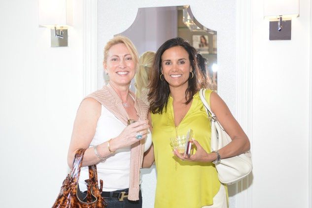 8 Shanoah Scherfenberg, left, and Veronica Roa at the Brush & Blush Blow Dry Bar party June 2014