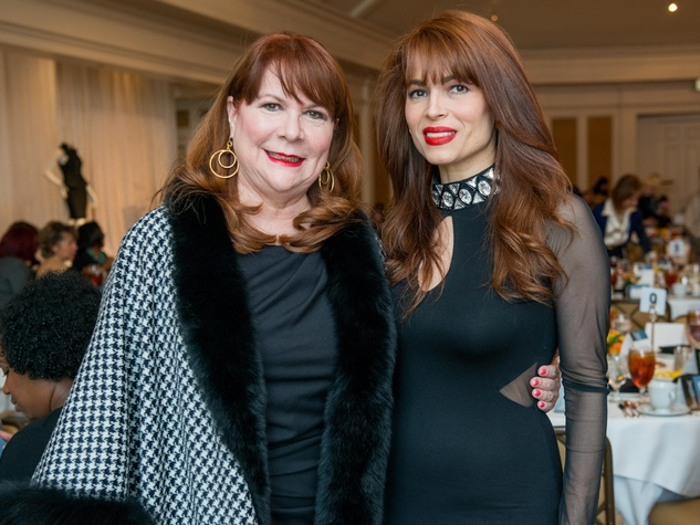 15 Barbara Van Postman, left, and Karina Barbieri at the Passion for Fashion luncheon March