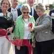 Ellen Cohen, Katharine McGovern, Annise Parker at dedication of Mandell Park August 2014