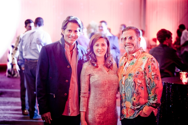 134 Michael Garfield, from left, Debbie Elias and Jeff Gorski at the Patient Financial Services 10th anniversary party April 2015