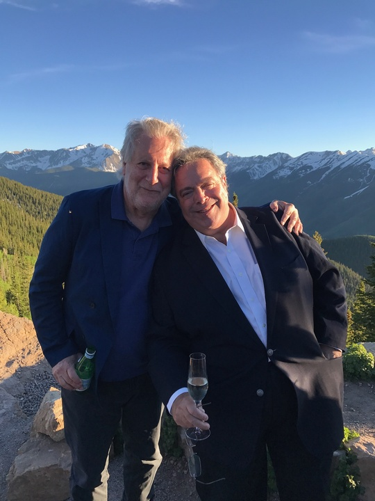 Jonathan Waxman with Drew Neiporent at Aspen Food & Wine festival