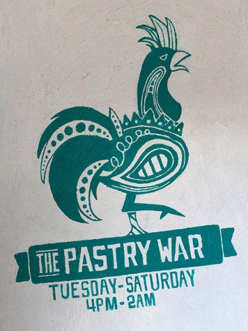 The Pastry War Houston August 2013 sign