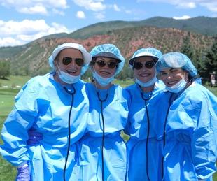 Houston Methodist in Aspen, July 2017, Denise Monteleone, Dathel Coleman, Paula Loud, Marie O'Neill