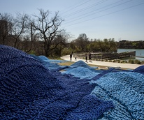 Waller Creek Hurlyburly by Orly Genger 2016