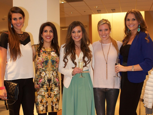 18 Kathryn Hamilton, from left, Neekie Kashani, Ashley Appling, Holly A.N. Smith and Alana Skinner at Dress for Dinner March 2014