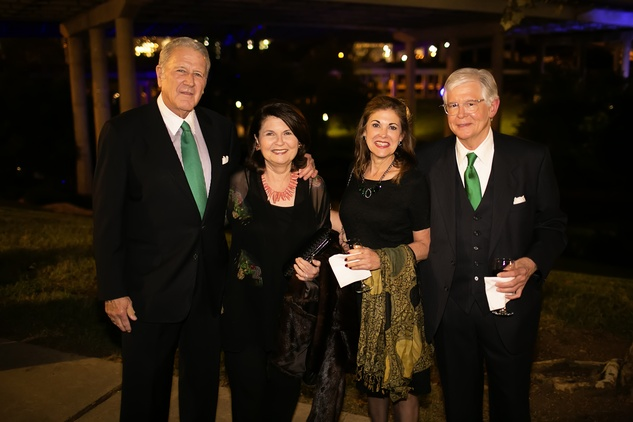 8 Chuck and Gayl Carlberg, from left, Adrienne David and Dick Yale at the Buffalo Bayou Ball November 2014