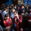 Loud electronic music fueled a frenzied dance party at Bollywood Ball