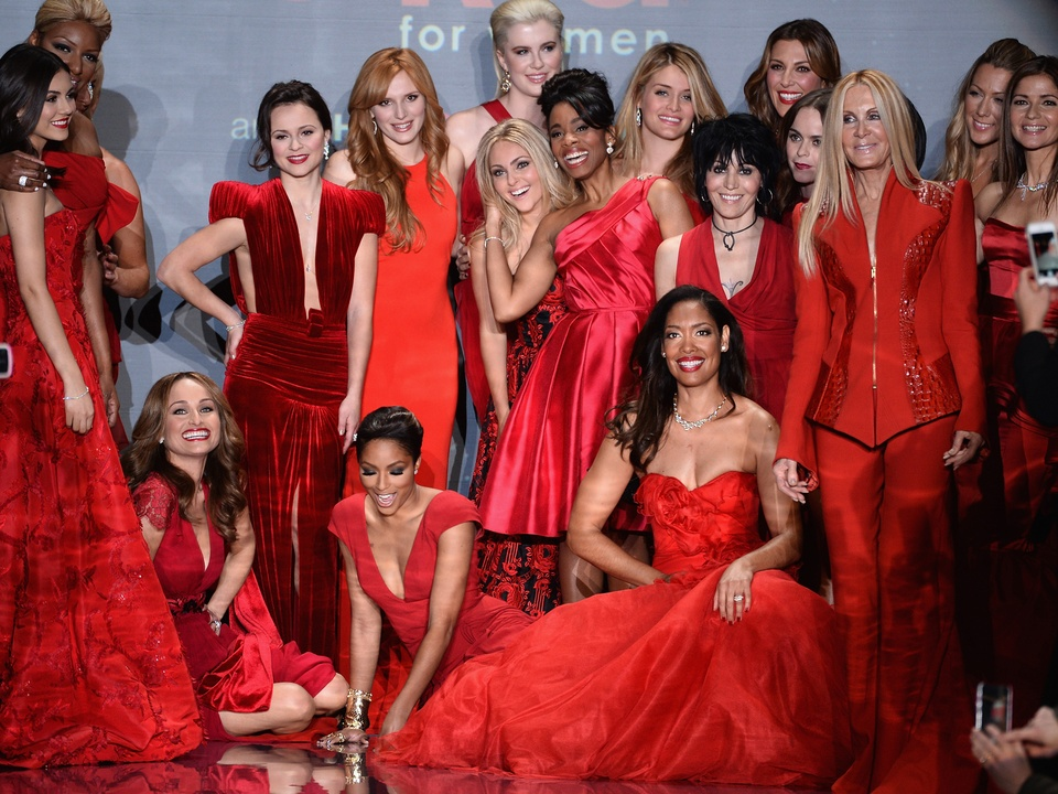 models at Go Red For Women February 2014