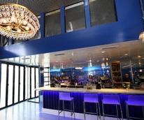 Houston, First Look at Bar Bleu, June 2016, large bar area