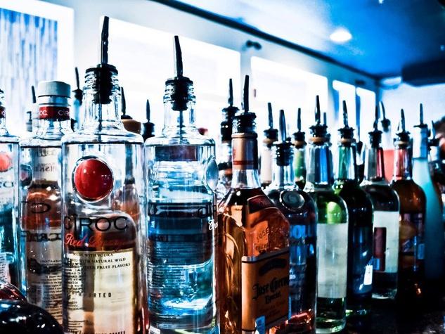 Bottles at Synn Nightclub in Dallas