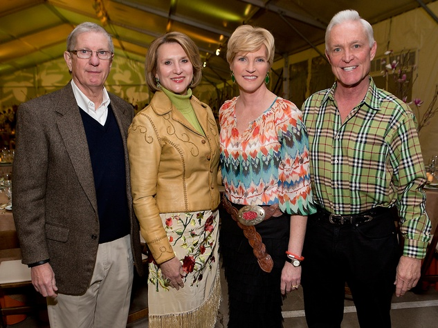 Grier and Camille Patton, from left, and Tammy and Steve Jenkins at the Memorial Park Conservancy benefit February 2015