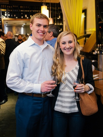 10 Steven Mickey and Allison Huseman at the Artesa wine tasting at Cru March 2014