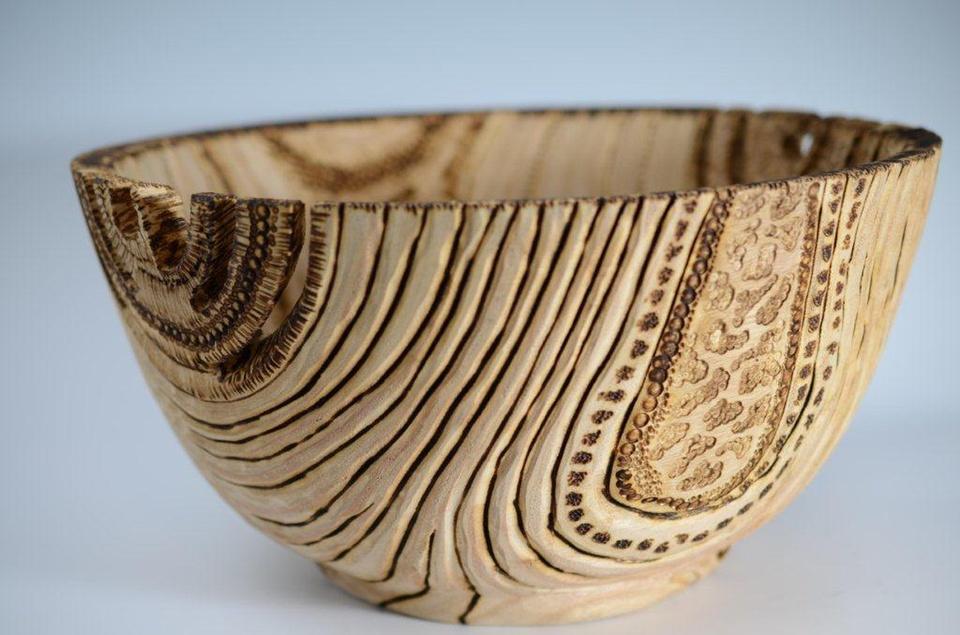Relic Bowl by Dr. Paula Haymond Empty Bowls Houston