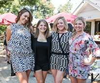 Tribeza Style Brunch 2015 at Justine's Brasserie Jessie Woodward Mary Feild Lydia Hattrup Kimberly Hertzak