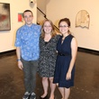 Daniel Bertalot, from left, Wendy Franklin and Cintia Gomez at the Lawndale Big Show preview party July 2014