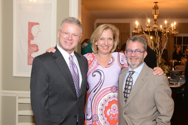 1 Albert Wilson, from left, Sarah Eilers and Ken Kehoe at the Houston Design Center Spring Market pre-party at Lauren Rottet's home April 2014