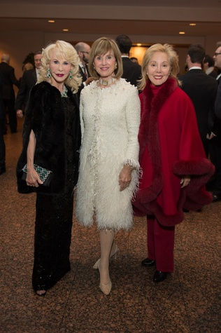 8 Diane Lokey Farb, from left, Donna Josey Chapman and Linda Barrett at the HGO Concert of Arias February 2015