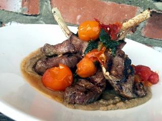 Lamb dish at Victor Tangos restaurant in Dallas