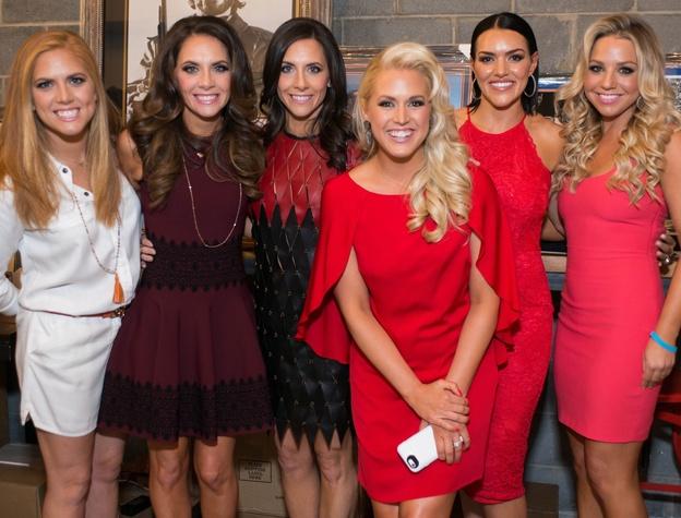 Project 88 gala, 4/16, Amber Hartland, Joanna Marks, Hannah McNair, Ericka Graham, Megan Cushing, Bria Wall