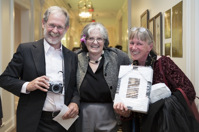 15 Paul Hester, from left, Anne Tucker and Lisa Hardaway at the Houston Center for Photography Print Auction February 2015