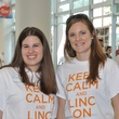 4 Eliza Horn, left, and Ashton Becker at young professionals build Tiny Libraries September 2014