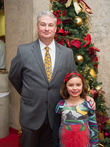 7 Butch and Lilly Mach at the Alley Theatre's Deck the Trees Celebration November 2013