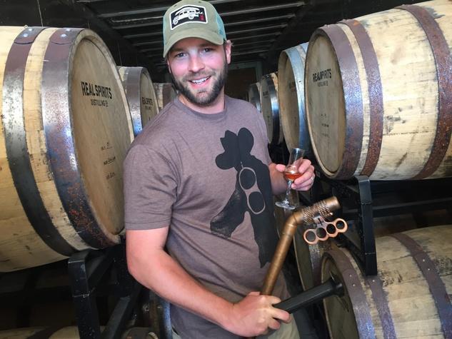 Real Spirits distiller Davin Topel