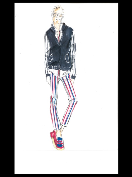 Clifford, Fashion Week, sketches, Tommy Hilfiger men, September 2012