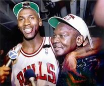 Michael Jordan and father James Jordan
