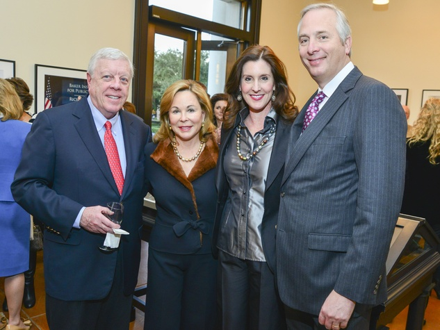 1 Rich and Nancy Kinder, from left, and Phoebe and Bobby Tudor at the Baker Institute reception December 2013