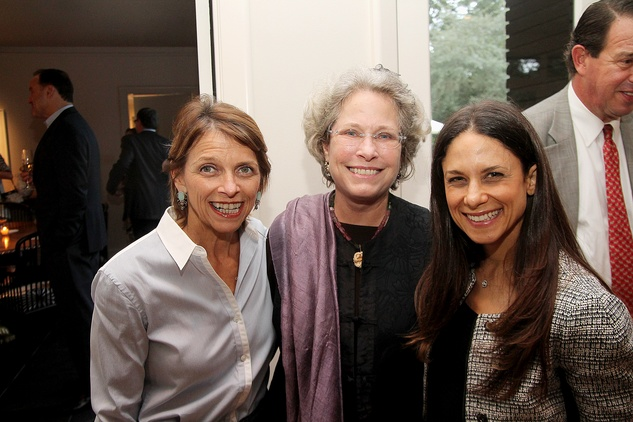 Kathryn McNiel, from left, Lillie Robertson and Karen Farber at the Da Camera Jason Moran launch party September 2014
